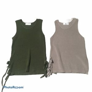 Time & Tru knit heavy tank top bundle. Sz small
